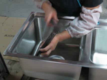 Herstellungsprozess für Küchenspülen